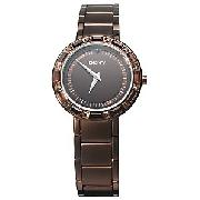 DKNY NY3900 Jewelled Women's Watch, Brown