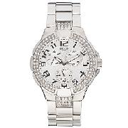 Guess 14503L1 Prism Chronograph Women's Watch, Silver