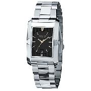 Kenneth Cole KC3674 Reaction Men's Black Rectangular Dial Watch