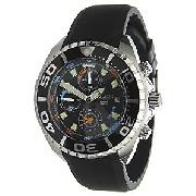 Police Alarm Chronograph Men's Watch, Black, 10659JS