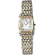 Seiko Two-Tone Women's Rectangular Watch