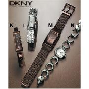 DKNY Silver Crystal Round Watch