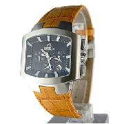 Breil Mens Leather Style Watch