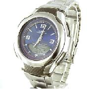 Casio Stainless Steel Combination Tough Solar Watch