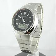 Casio Stainless Steel Wave Ceptor Watch