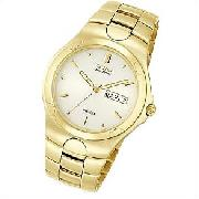 Citizen All Stainless Steel Gents Gold-Tone Corso Watch