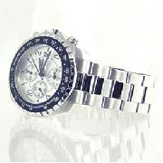 Police Navy Stainless Steel Bracelet Watch