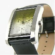 Police P-Empire Black Leather Strap Watch