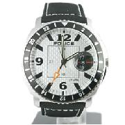 Police Silver Sub Techno Watch