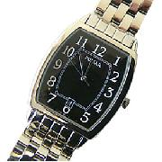 Pulsar Gents Rectangular Black Faced Watch