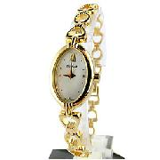 Pulsar Ladies Oval Gold Tone Watch