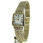 Rotary Ladies Gold Plated Watch