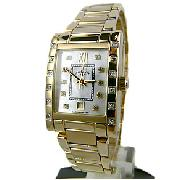 Rotary Rocks Diamond Set Gold Plated Watch