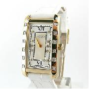 Rotary Rocks Gold Plated Diamond Set Watch
