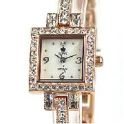 Royal London Rose Gold Toned Square Bracelet Watch