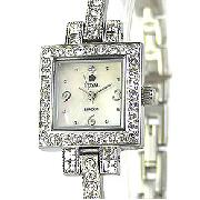 Royal London Square Crystal Set Bangle Watch