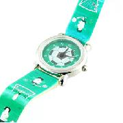 Sekonda Childrens Green Footballer Watch