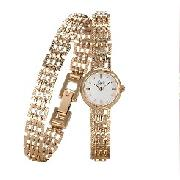 Limit - Limit Ladies Gold Plated Watch and Bracelet Set with Locket