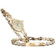 Sovereign - Ladies' 9-Carat Gold Watch and Bracelet Set