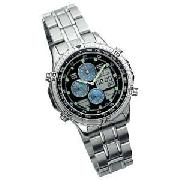 Accurist Gents Quartz Analogue/Digital Chronograph Watch