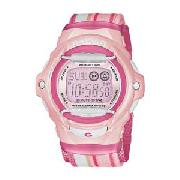 Casio Baby G Ladies Illuminator LCD Pink Watch