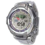Casio Gents Pro Trek Solar Triple Sensor Combi Watch