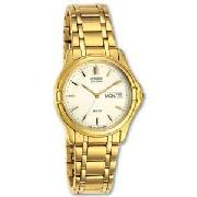 Citizen Gents Eco-Drive Gold Plated Bracelet Watch