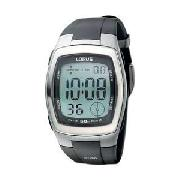 Lorus Gents LCD Resin Strap Watch