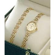 Sovereign Ladies 9ct Gold Hallmarked Watch Set