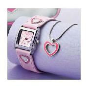 Spirit Girls 3 Piece Heart Watch Set