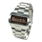 Bench BC0050BR Stainless Steel Bracelet Watch with Brown Dial