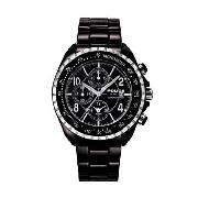 Police - Men's Black Dial with Black Plated Bracelet Watch