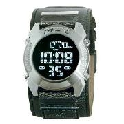 Kahuna - Men's Black Round Digital Dial with Black Strap Watch