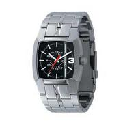 Diesel - Men's Black Square Dial Bracelet Strap Watch