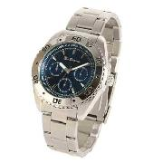 Ben Sherman - Men's Blue Chronograph Dial Stainless Steel Bracelet Watch