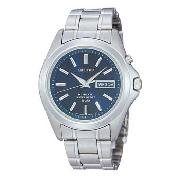 Seiko - Men's Blue Dial with Stainless Steel Bracelet Watch