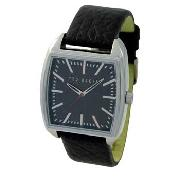Ted Baker - Men's Grey Square Dial with Black Strap Watch
