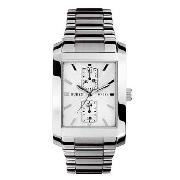 Guess by Marciano - Men's Silver Coloured Chronograph Dial Two Tone Bracelet Watch