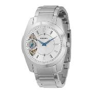 Fossil - Men's Silver Coloured Round Dial Bracelet Link Watch