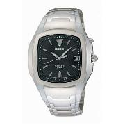 Seiko - Men's Square Black Dial with Bracelet Watch