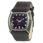 Kahuna - Men's Square Dial with Brown Strap Watch