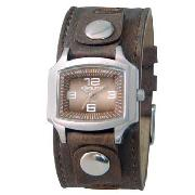 Kahuna - Women's Brown Square Dial with Brown Cuff Watch