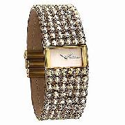 Accurist Accu-2 Ladies' Peach Crystal Watch
