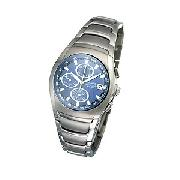 Accurist Men's Blue Dial Chronograph Bracelet Watch