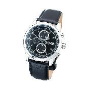 Accurist Men's Chronograph Dial and Leather Strap Watch
