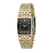 Accurist Men's Gold-Plated Diamond-Set Watch