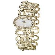 Anne Klein Ladies' Gold-Plated Stone-Set Bracelet Watch