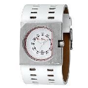 Ben Sherman White Leather Wide Watch