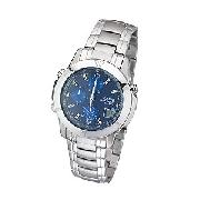 Casio Men's Blue Dial Chronograph Bracelet Watch