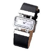 DKNY Ladies' Black Leather Strap Watch